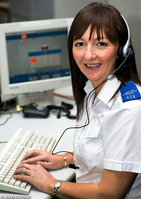 Photo of a crisis phone line operator
